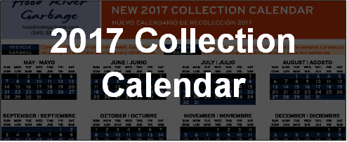 2017 Collection Calendar