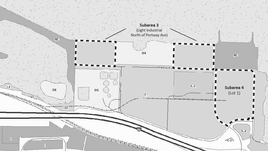 17.03.130-4 Boundary of the Waterfront Overlay Zone - Subarea 3 and Subarea 4
