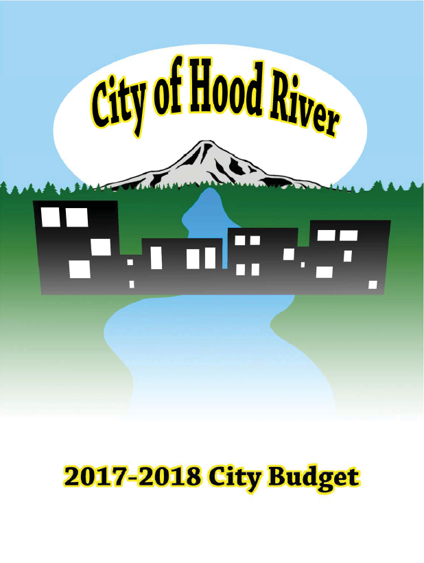 City of Hood River 2017-18 Budget Cover