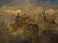Battle of the Bulls by Minerva Teichert