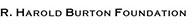 R. Harold Burton Found logo
