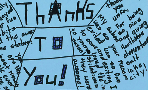 Thank you note from students