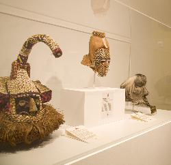 Image of three african masks