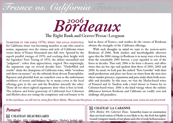 Bonus Reports on Imported Wine