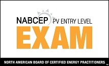 NABCEP PV Entry Level Exam Logo