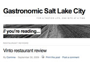 gastronomic salt lake city